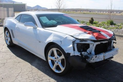 low miles 2015 Chevrolet Camaro SS Coupe repairable for sale