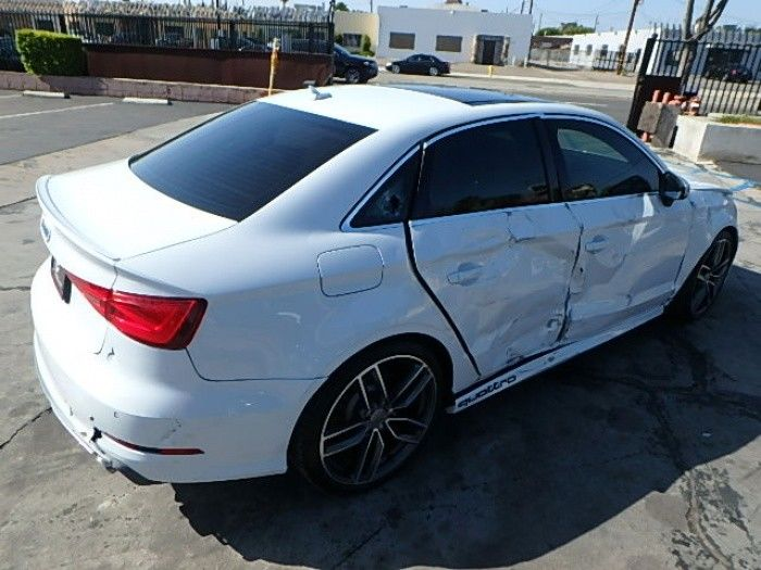 low miles 2016 Audi S3 2.0T Premium Sedan Quattro S tronic repairable