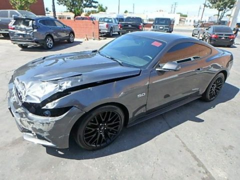 very low mileage 2017 Ford Mustang GT Premium Repairable for sale