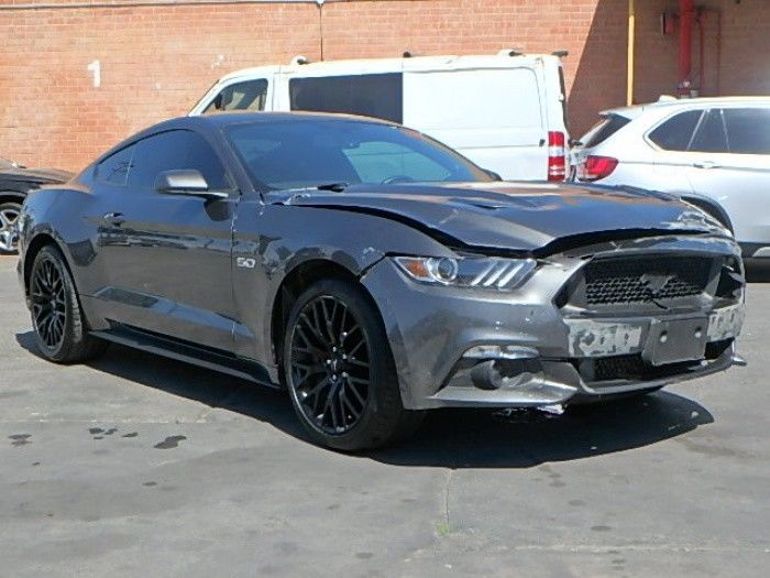 very low mileage 2017 Ford Mustang GT Premium Repairable