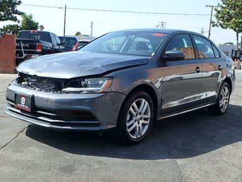 loaded with options 2018 Volkswagen Jetta 1.4T S Repairable for sale