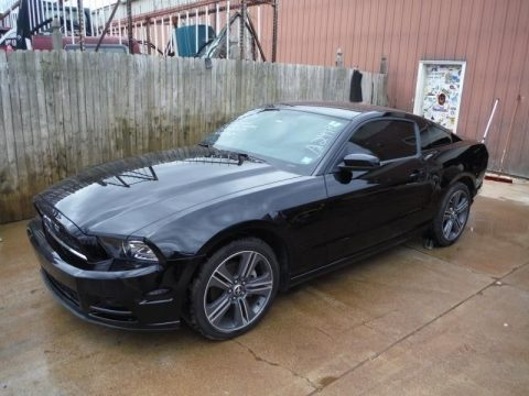 low miles 2014 Ford Mustang V6 COUPE repairable for sale