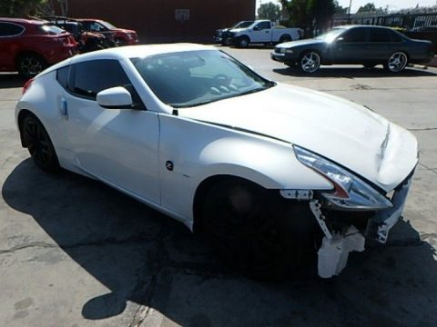 low miles 2015 Nissan 370Z Coupe 7AT repairable for sale