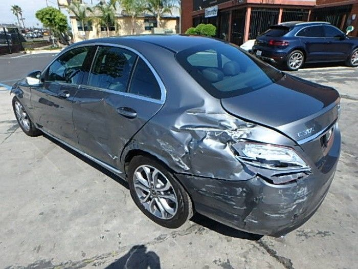 very low mileage 2018 Mercedes Benz C Class C300 Repairable