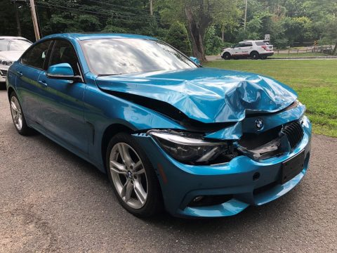 very low miles 2018 BMW 4 Series 430i repairable for sale