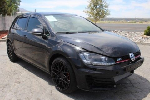 well equipped 2017 Volkswagen Golf GTI repairable for sale