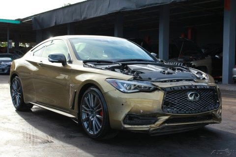 loaded 2017 Infiniti Q60 Red Sport 400 repairable for sale