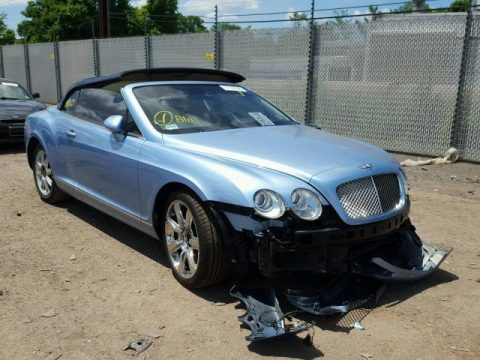 loaded with luxury 2007 Bentley Continental GTC Convertible repairable for sale