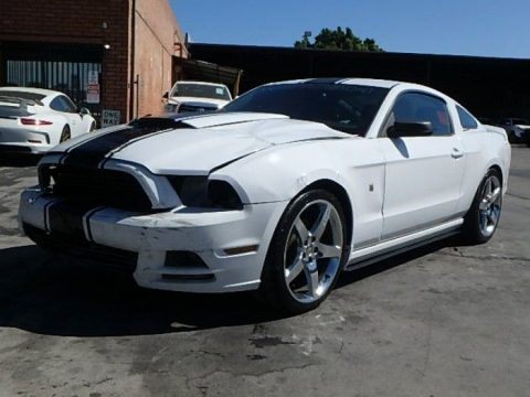 low miles 2014 Ford Mustang Coupe repairable for sale