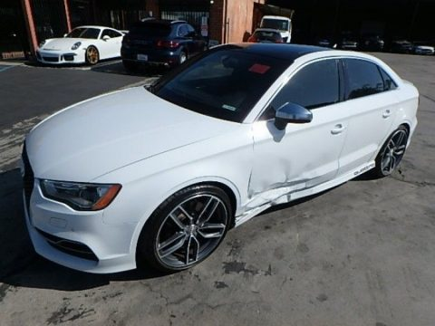 low miles 2015 Audi S3 Premium Sedan Quattro S repairable for sale
