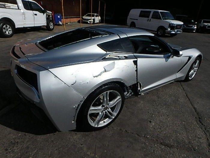 low miles 2016 Chevrolet Corvette LT Damaged Repairable