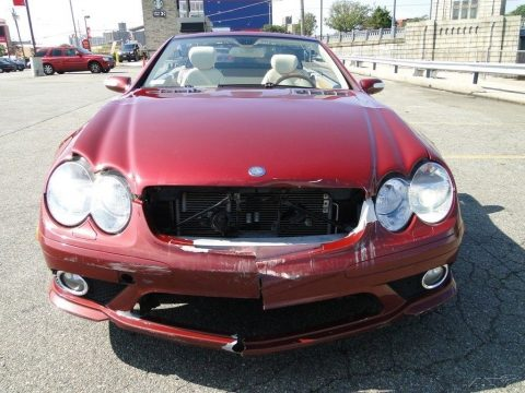 luxurious 2007 Mercedes Benz SL Class SL550 repairable for sale