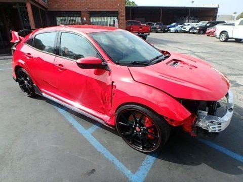 loaded 2018 Honda Civic Type R repairable for sale