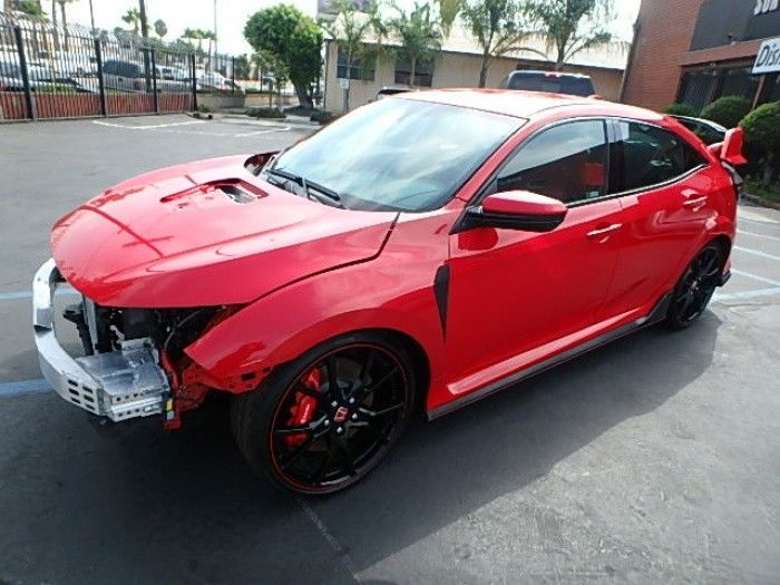 loaded 2018 Honda Civic Type R repairable