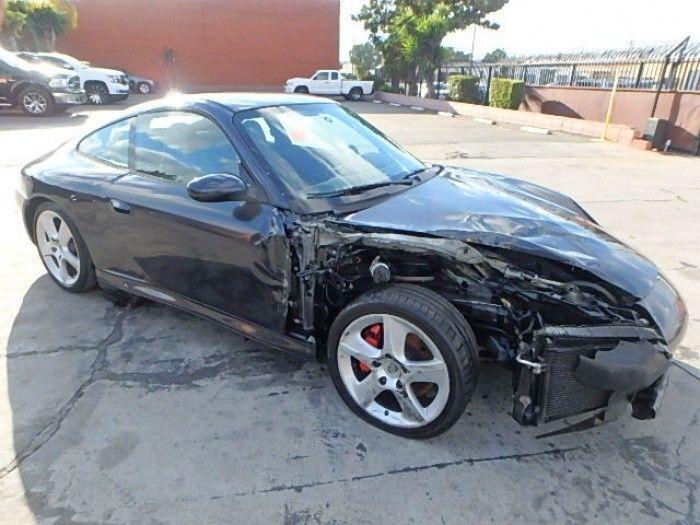 low mileage 2004 Porsche 911 Carrera 4S repairable