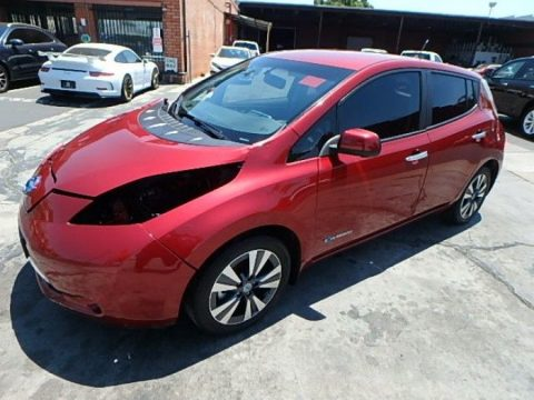 low mileage 2014 Nissan Leaf SL repairable for sale
