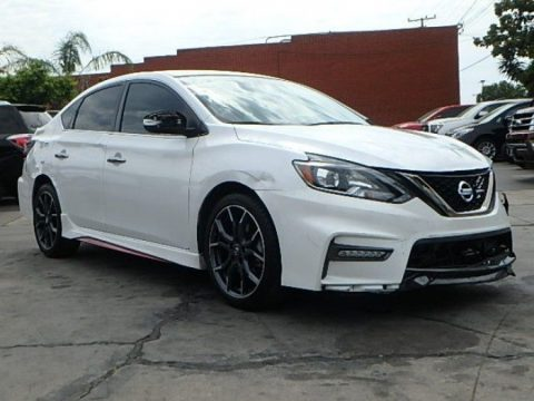 low miles 2017 Nissan Sentra SR Turbo CVT repairable for sale