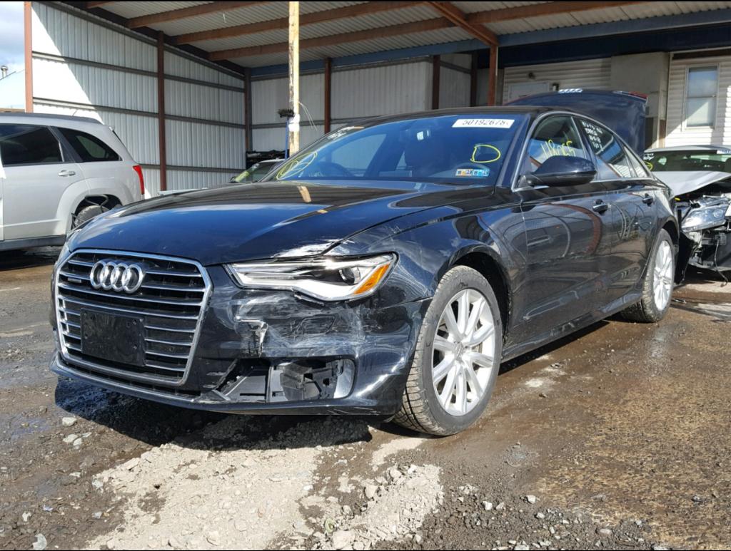 fully loaded 2016 Audi A6 2.0T Premium Plus quattro Repairable