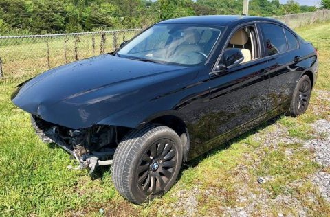 low mileage 2016 BMW 3 Series repairable for sale