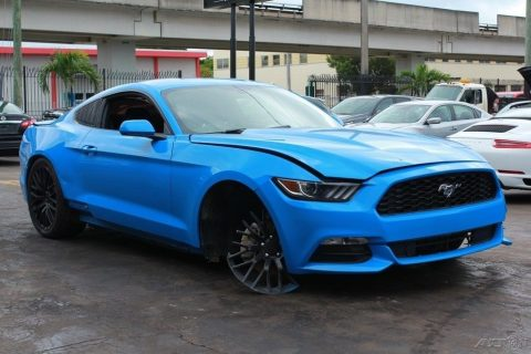 nicely equipped 2017 Ford Mustang V6 Fastback Repairable for sale