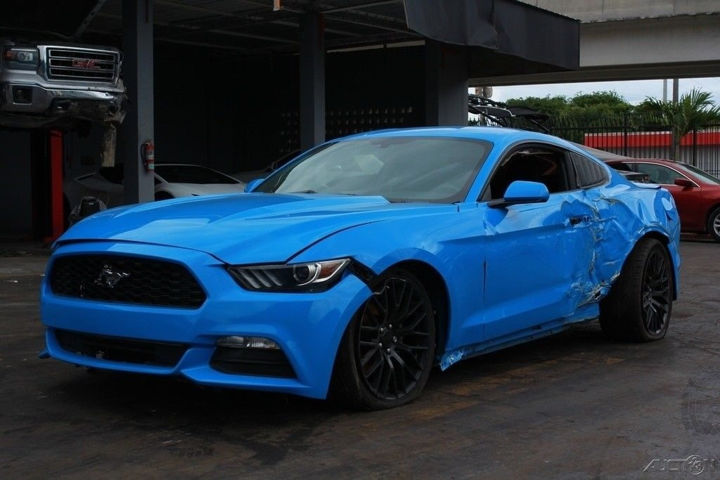 nicely equipped 2017 Ford Mustang V6 Fastback Repairable