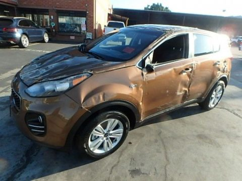 well equipped 2019 Kia Sportage LX Repairable for sale
