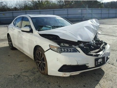 well optioned 2015 Acura TLX SH AWD repairable for sale