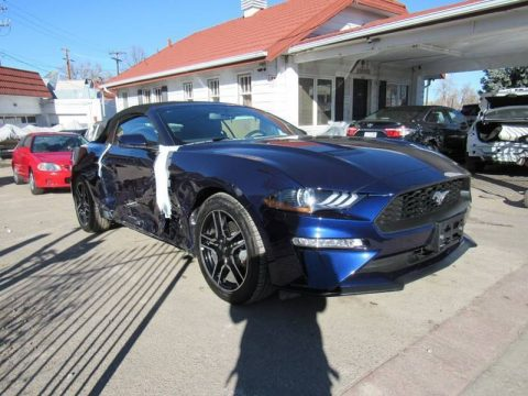 low miles 2019 Ford Mustang Ecoboost repairable for sale