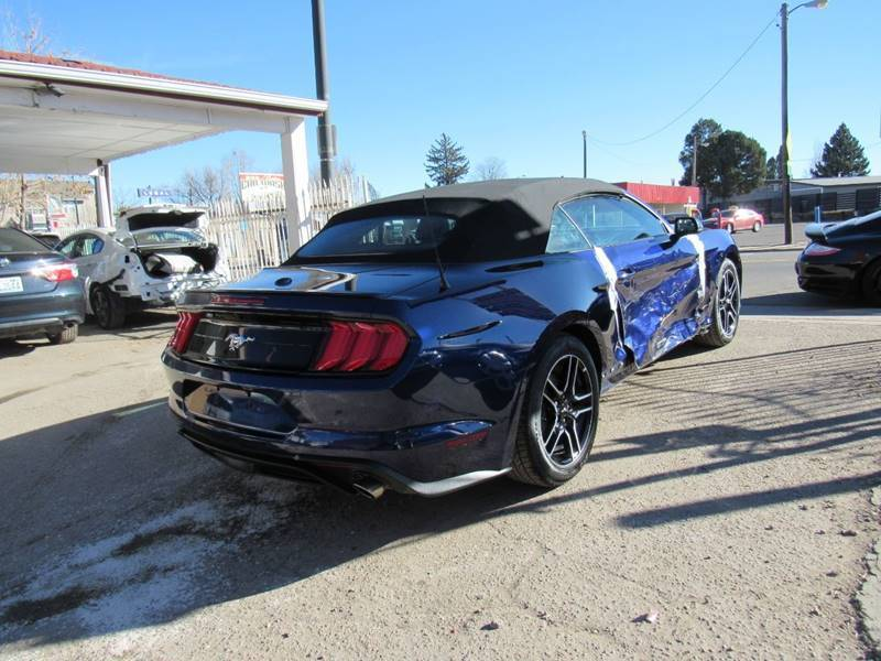 low miles 2019 Ford Mustang Ecoboost repairable