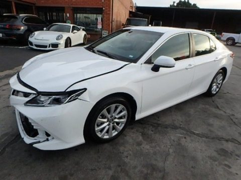 well equipped 2018 Toyota Camry LE repairable for sale