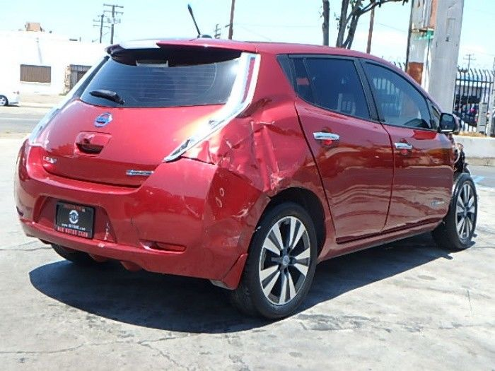 electric 2014 Nissan Leaf SL repairable