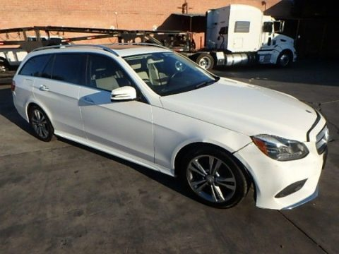 low miles 2014 Mercedes Benz E Class E350 4MATIC repairable for sale