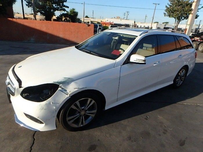 low miles 2014 Mercedes Benz E Class E350 4MATIC repairable