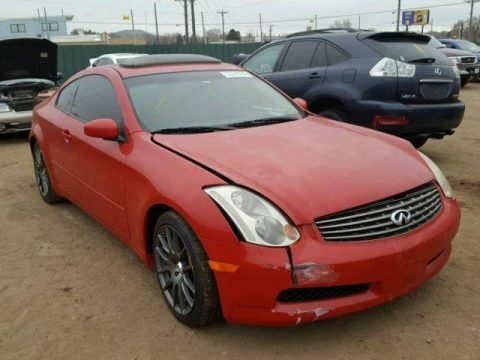 well equipped 2003 Infiniti G35 Coupe repairable for sale