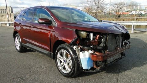 front damage 2015 Ford Edge Titanium Turbo 2.0L I4 16V Automatic repairable for sale