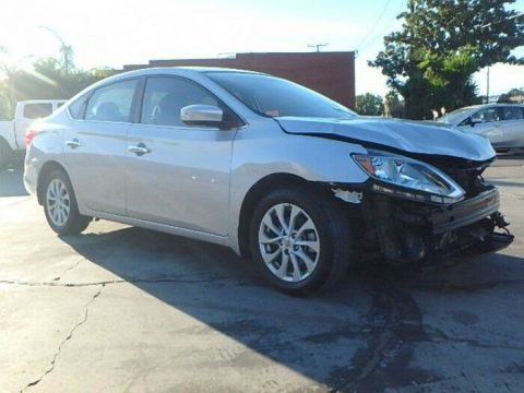 loaded 2018 Nissan Sentra SV repairable for sale