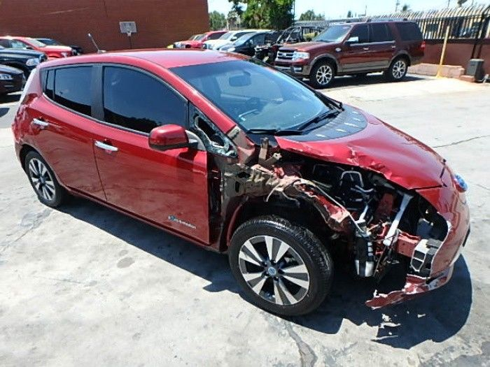 low miles 2014 Nissan Leaf SL Repairable