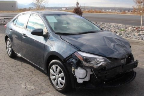 low miles 2016 Toyota Corolla LE repairable for sale