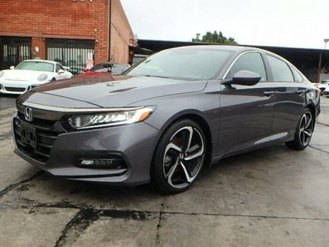 low miles 2018 Honda Accord Sport CVT repairable for sale