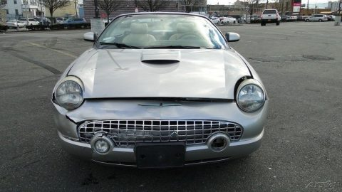 retro 2004 Ford Thunderbird 3.9L V8 32V Automatic RWD Convertible Repairable for sale