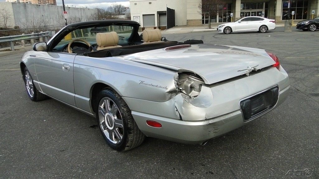 retro 2004 Ford Thunderbird 3.9L V8 32V Automatic RWD Convertible Repairable