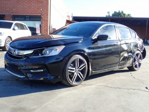 well equipped 2017 Honda Accord repairable for sale
