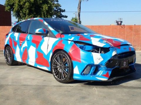 low miles 2017 Ford Focus RS repairable for sale