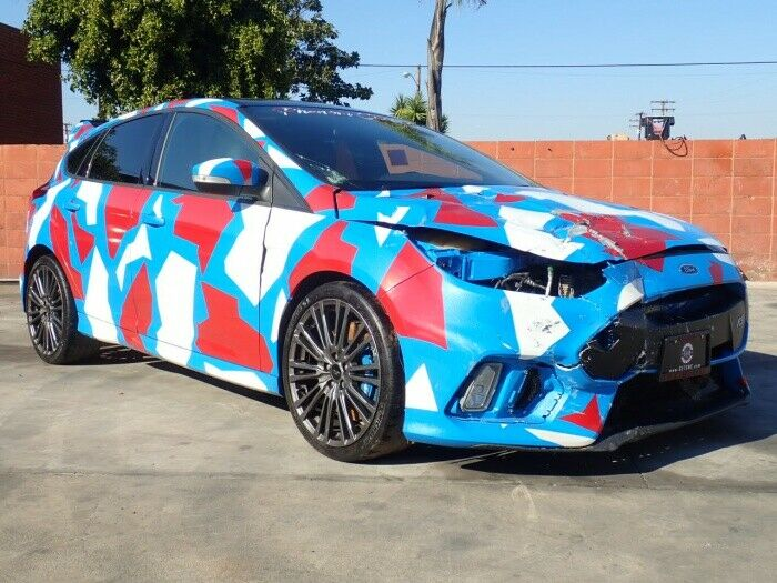 low miles 2017 Ford Focus RS repairable