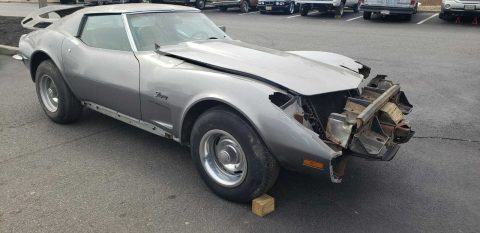 vintage 1973 Chevrolet Corvette Repairable for sale
