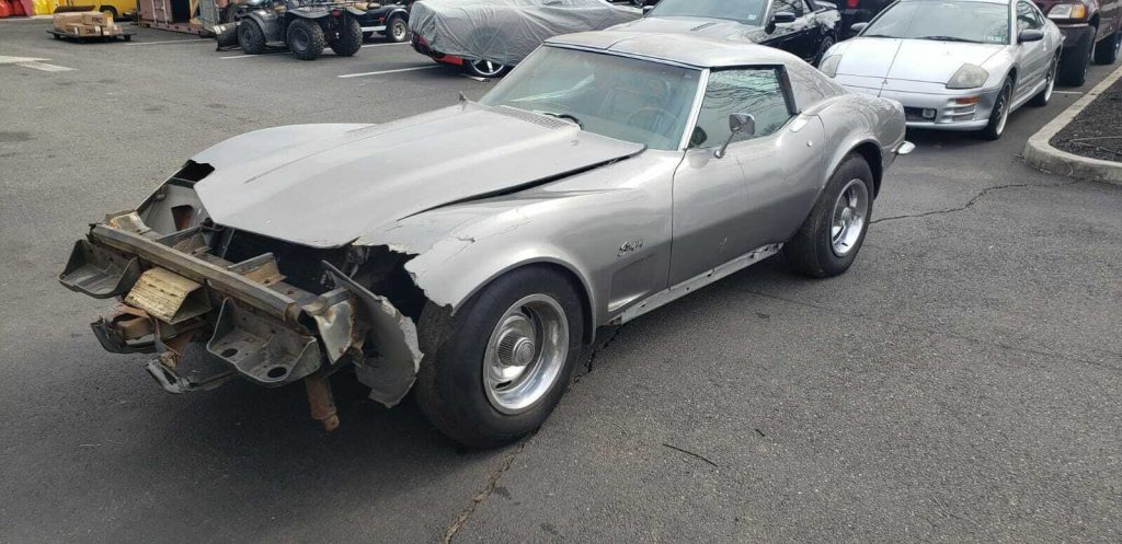 vintage 1973 Chevrolet Corvette Repairable