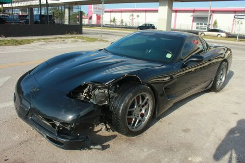 well optioned 2001 Chevrolet Corvette Z06 Hardtop repairable for sale