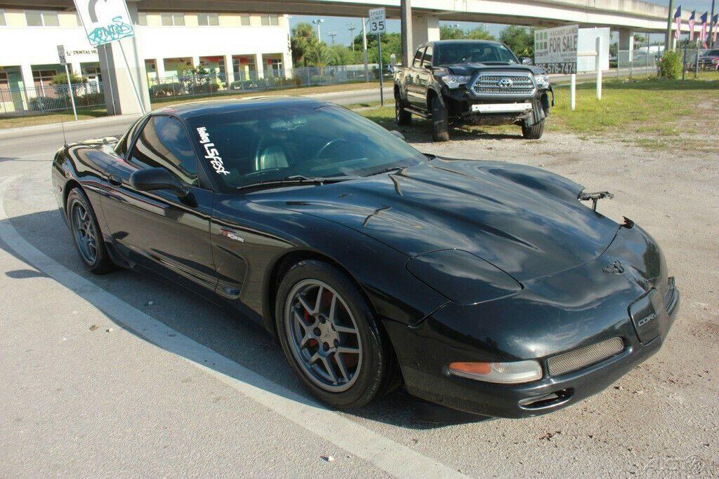 well optioned 2001 Chevrolet Corvette Z06 Hardtop repairable