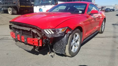 low mileage 2015 Ford Mustang ECOBOOST repairable for sale