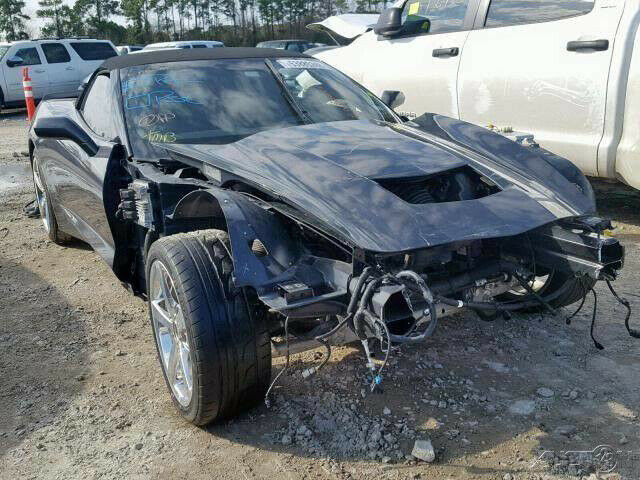 low miles 2014 Chevrolet Corvette Stingray Convertible repairable